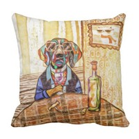 Ain't Nothing But A Hound Dog Wining All The TIme Throw Pillow