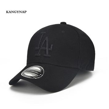 Sports Hat Cap trendy  [KAGYNAP] Adjustable LA Baseball Cap Embroidery Outdoors s Gorras Men Women Casual Hats Summer Casquette Snapback Cap KO_16_1