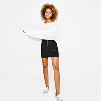Tailored skirt with zip - Skirts - Bershka United Kingdom