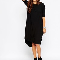 ASOS | ASOS Oversize T-Shirt Dress With Curved Hem at ASOS