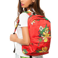 The Journey Backpack in Red Floral