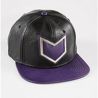 Faux Leather Hawkeye Snapback Hat - Spencer's