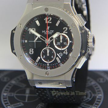 Hublot Big Bang Chronograph Steel Black Dial 44mm Watch Box/Papers 301.SX.130.RX