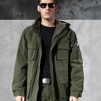 Outdoor men's Tactical Military M65 Tactical Windbreaker Men Winter Thermal Flight Pilot 101 air force Jacket