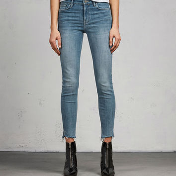 ALLSAINTS CA: Womens Grace Ankle Fray Skinny Jeans (light_indigo_blue)
