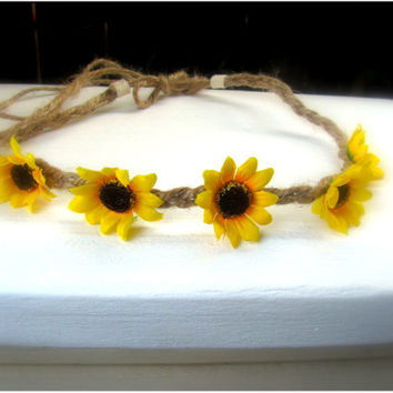 Sunflower Tieback Festival Headband
