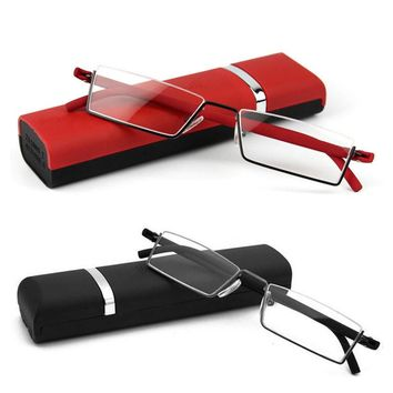 1PC Unisex Light Reading Glasses 1.0 To 4.0 Red Black TR90 Eyes Care Healthy