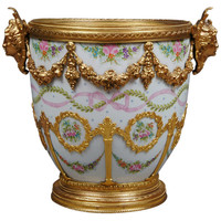 Sevres Gilt Bronze Mounted Cache Pot