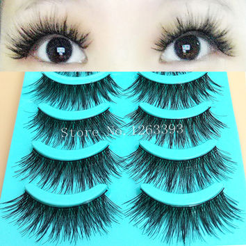 2016 New Thick False Eyelashes High Quality Natural False Eyelashes Cross Thick False Eyelashes Tool Makeup
