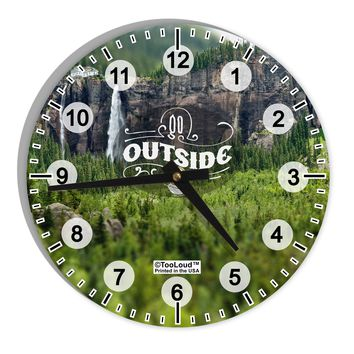 "Beautiful Cliffs - Go Outside AOP 8"" Round Wall Clock with Numbers All Over Print by TooLoud"