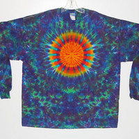 TIE DYE Shirt Rainbow Sun Blotter Psychedelic Tye Dye long sleeve Grateful Dead Adult T-shirt 5x 6x hippie art L/S