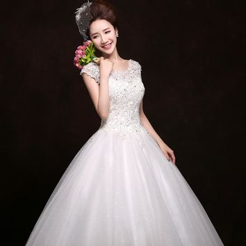Fairy Maternity Wedding Dress Bride type slit neckline plus size wedding dress big yards HS22