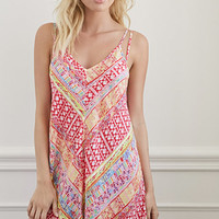 Angled Abstract Print Cover-Up