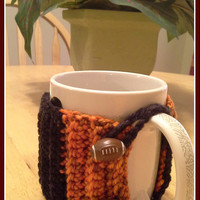 Cincinnati Bengals Football button Crochet Mug Cozy