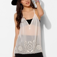 Love Sam Embroidered Swiss Dot Tank Top - Urban Outfitters