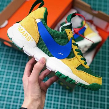 Off White X Tom Sachs X Nikecraft Mars Yar 2.0 Green Blue Sport Running Shoes - Best Online Sale