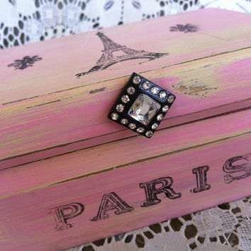 Paris Glam Inspired Shabby Chic Jewelry Box by CharlotteSueVintage