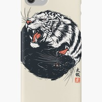 'Tachi Tiger' iPhone Case/Skin by Steven Toang