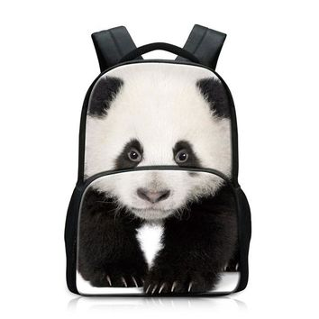 Girls bookbag Panda Backpacks for Teen Girls Animal School Bags for Boys Tiger Pattern Bookbags Wolf Mochilas Dog Day Pack for Children felt AT_52_3