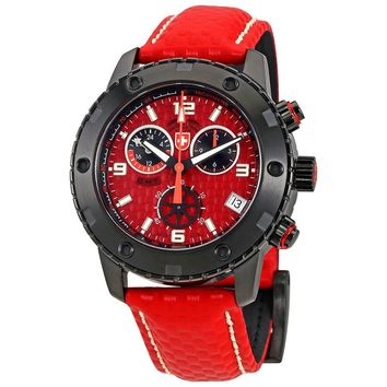 Swiss Military Rallye GMT Red Dial Mens Watch 27531