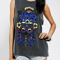 Urban Outfitters - Blackstone Day Of The Dead Muscle Tee