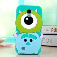 New Cute 3D Disney Silicone Skin Cover case For Samsung Galaxy S4 I9500+Gift