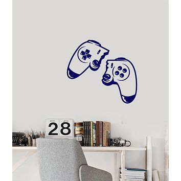 Vinyl Wall Decal Gamer Joystick Video Game Player Stickers (3790ig)