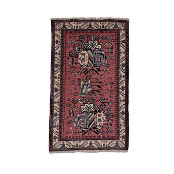 """Vintage Persian Rug, Afshar Hand Knotted Wool Rug 2' 1"""" X 3' 6"""""""