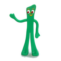 Vintage Poseable Gumby Toy - Prema Toy Company Co Inc - Flexible Standing Rubber Toy - Almost 6 Inches Tall