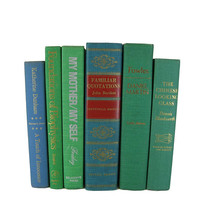 Decorative Books for Display in Shades of  Blue and Green