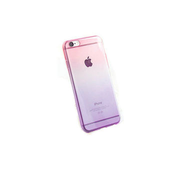 iPhone 5 Case - iPhone 6 Case - Clear Pink iPhone 5s Case - Pink and Purple iPhone 5 Case - iPhone 6 Case - Gradient Phone Case