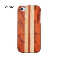 Handmade Natural Wood Wooden Hard bamboo Case Cover for iPhone 5 with free screen protector(rosewood and maple)