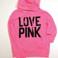 Victoria's Secret Pink Hoodie Pullover Love Pink 86 Sweatshirt Sweat Shirt V039