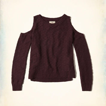 Girls Cold Shoulder Sweater | Girls New Arrivals | HollisterCo.com