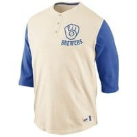 Nike MLB Cooperstown Old School Henley - Men's