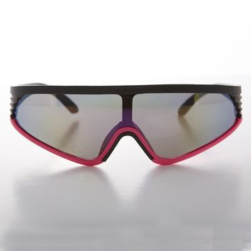Mirror Lens Sports Wrap Deadstock Vintage Sunglass  - Rider