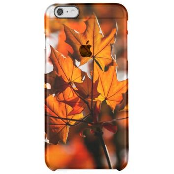 beautiful autumn leaves clear iPhone 6 plus case