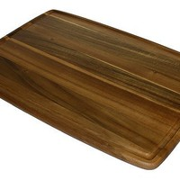 Mountain Woods Extra Large Acacia Edge Grain Prep Station Cutting Board with Juice Groove