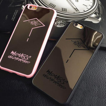 Fashion Mirror lovers mobile phone case for iphone 5 5s SE 6 6s 6plus 6s plus + Nice gift box!