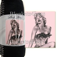 Marilyn Monroe Pink Fishnet Fleece Throw Signature Collection