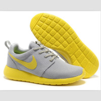 NIKE fashion network sports shoes casual shoes Light gray yellow