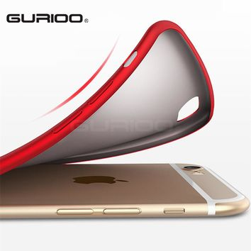 GURIOO Cases for Apple iPhone Covers Matte Soft TPU Silicone