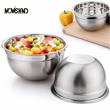 MOM'S HAND Stainless Steel Egg Mixing Bowl Kitchen Salad Bowl