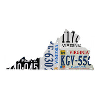 Virginia License Plate wall decal