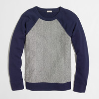 FACTORY CABLE FRONT SWEATSHIRT