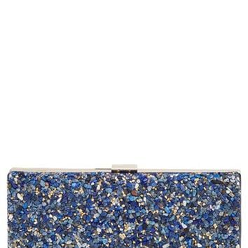 Natasha Couture Howlite Box Clutch - Blue