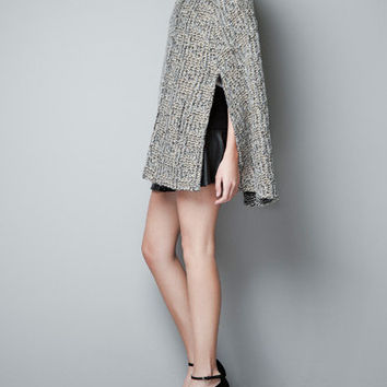 PICOT CAPE WITH STRASS ON SHOULDERS - Knitwear - Woman - ZARA Canada