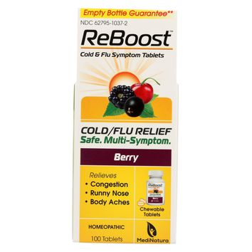 Reboost Cold Flu Relief Tablets - 100 Tablets