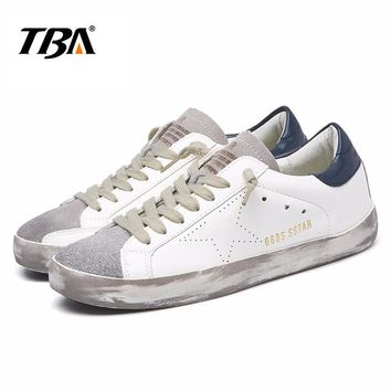 TBA Brand Designer 2017 Italy Golden Genuine leather Casual Women Shoes Trainers Goose star Breathe Shoes Footwear Zapatillas
