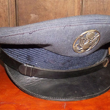 Wool Military Dress Cap Vintage 1960s